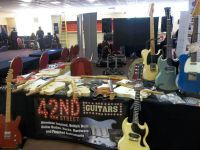 Setting up the stand at the Bristol guitar show © 2018 42nd Street Guitars