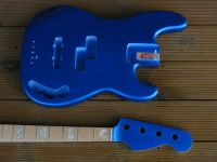 Replacement jazz bass body in lake placid blue with colour matched headstock © 2017 42nd Street Guitars