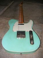 Broadway -6  in aged not worn seafoam green nitro, double bound © 2018 42nd Street Guitars