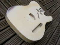 Replacement body for Telecaster, vintage cream over sunburst, medium wear © 2018 42nd Street Guitars
